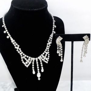 Vintage Rhinestone Necklace Set